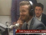 Café Caracol. 'Brasil es mi equipo favorito para la Copa Mundial', David Beckham