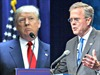 La batalla de videos de Trump y Bush